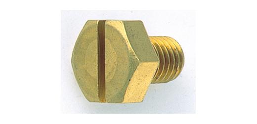 黄銅/クローム (-)六角ボルト (全ねじ)M6×70 【 小箱 : 1箱/100本入り 】