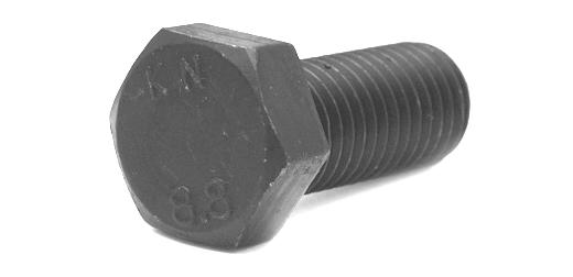 鉄(S45C)/三価ホワイト [小形] 六角ボルト [強度区分:8.8] (全ねじ)M8×25 【 小箱 : 1箱/300本入り 】