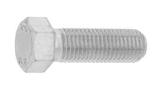鉄(S45C)/三価ホワイト [小形] 六角ボルト [強度区分:8.8] (細目・半ねじ)M14×50 《ピッチ=1.5》 【 小箱 : 1箱/60本入り 】