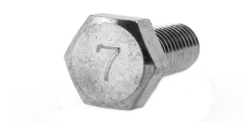 鉄(S45C)/クロメート 7マーク 六角ボルト (全ねじ)M5×12 【 小箱 : 1箱/1300本入り 】