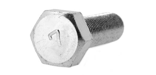 鉄(S45C)/クロメート 7マーク 六角ボルト (細目・全ねじ)M20×45 《ピッチ=1.5》 【 小箱 : 1箱/35本入り 】