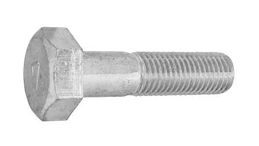 鉄(S45C)/クロメート 7マーク 六角ボルト (細目・半ねじ)M10×30 《ピッチ=1.25》 【 小箱 : 1箱/120本入り 】
