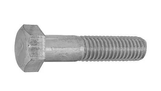 鉄(S45C)/クロメート [小形] 7マーク 六角ボルト (半ねじ)M8×90 【 小箱 : 1箱/100本入り 】