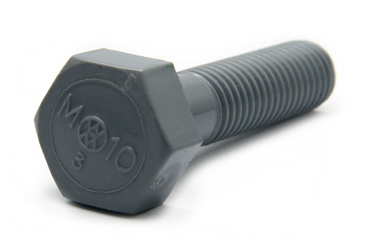 PVC 六角ボルト [新旭物産製]M12×25 【 小箱 : 1箱/100本入り 】