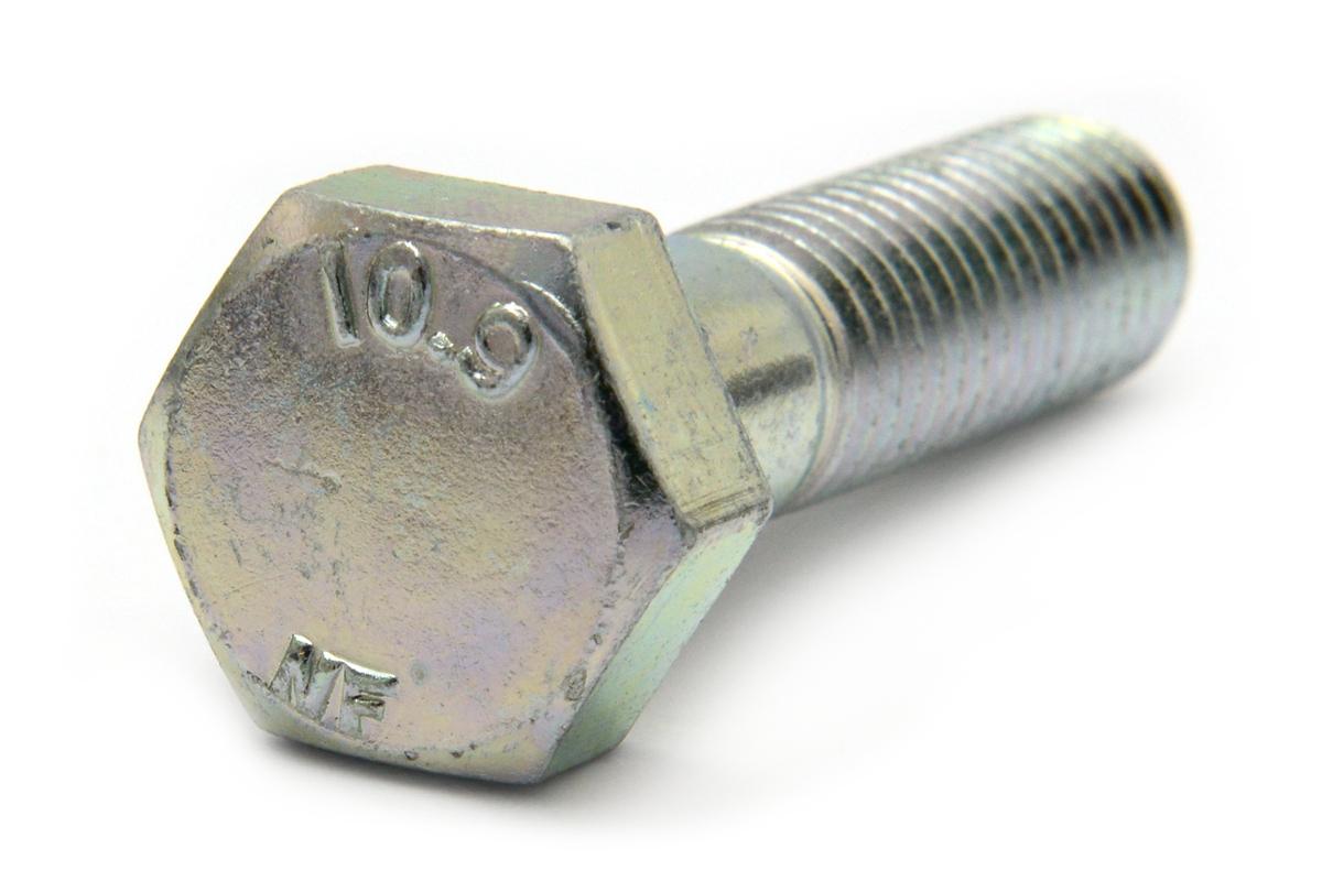 鉄(SCM435)/三価ホワイト 六角ボルト [強度区分:10.9] [日本ファスナー製](半ねじ) M20×220 【 お得セット : 10本入り 】
