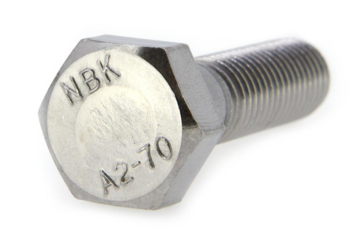 ステンレス/生地 六角ボルト [A2-70] (半ねじ)M12×120 【 小箱 : 1箱/40本入り 】