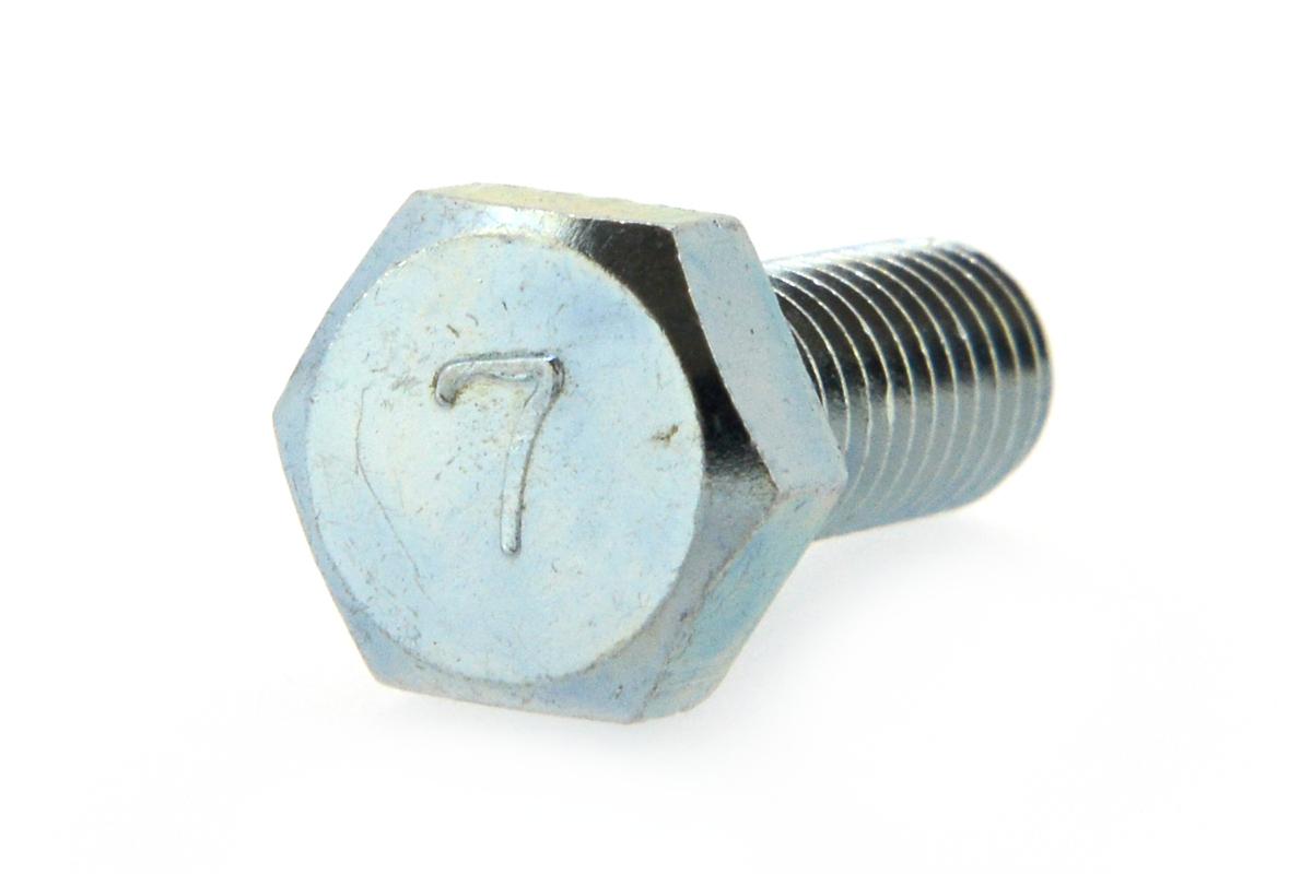 鉄(S45C)/ユニクロ 7マーク 六角ボルト (全ねじ)M5×40 【 小箱 : 1箱/400本入り 】