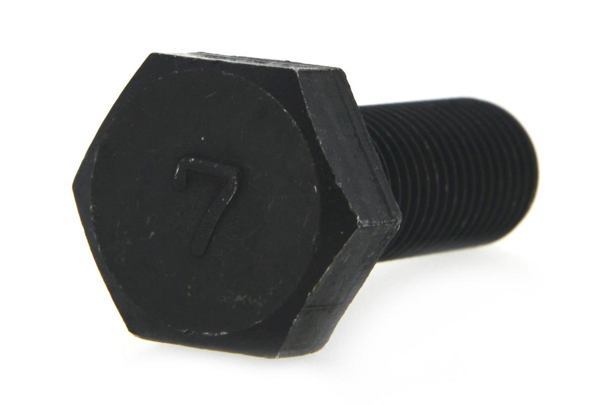 鉄(S45C)/酸化鉄被膜 7マーク 六角ボルト (細目・全ねじ)M12×25 《ピッチ=1.25》 【 小箱 : 1箱/100本入り 】