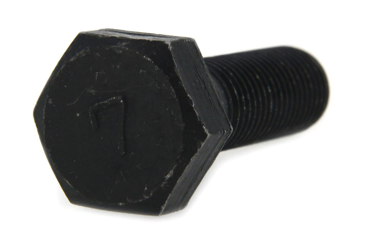 鉄/酸化鉄被膜 7マーク 六角ボルト (細目・半ねじ)M10×30 《ピッチ=1.25》 【 小箱 : 1箱/120本入り 】