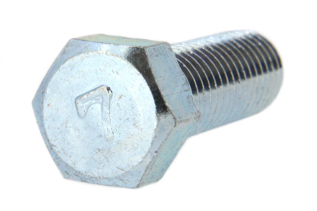 鉄(S45C)/三価ホワイト [小形] 7マーク 六角ボルト (全ねじ)M8×50 【 小箱 : 1箱/150本入り 】
