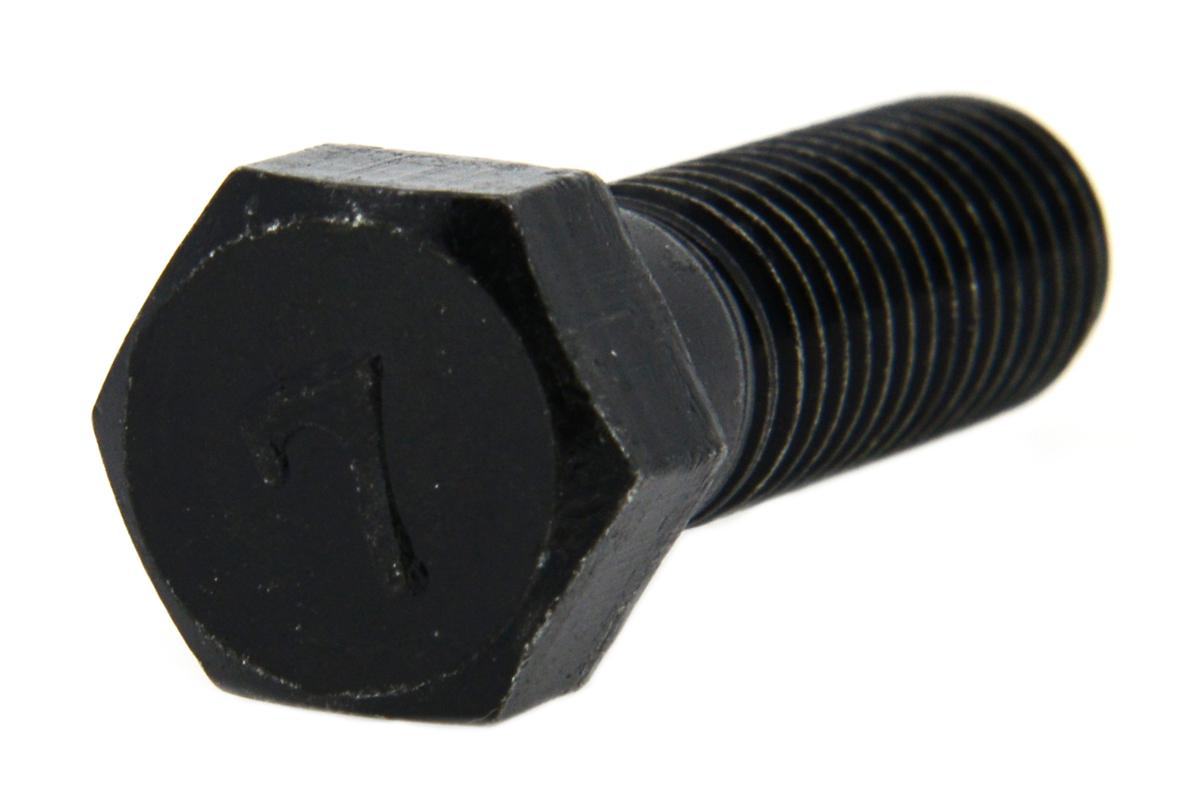 鉄(S45C)/三価ブラック [小形] 7マーク 六角ボルト (半ねじ)M8×120 【 小箱 : 1箱/75本入り 】