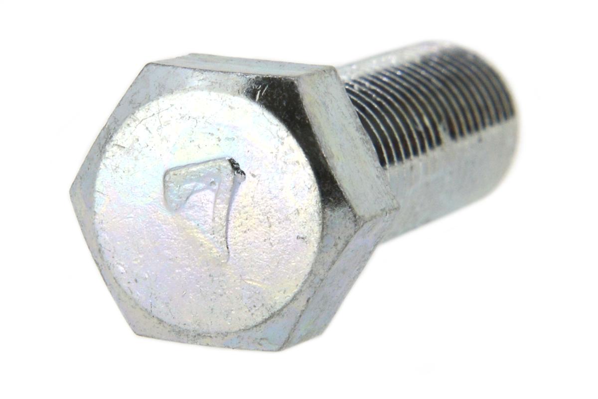 鉄(S45C)/三価ホワイト [小形] 7マーク 六角ボルト (細目・全ねじ)M10×35 《ピッチ=1.25》 【 小箱 : 1箱/130本入り 】