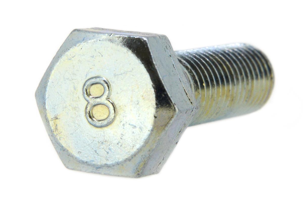 鉄(S45C)/ユニクロ 8マーク 六角ボルト (半ねじ)M8×110 【 小箱 : 1箱/75本入り 】