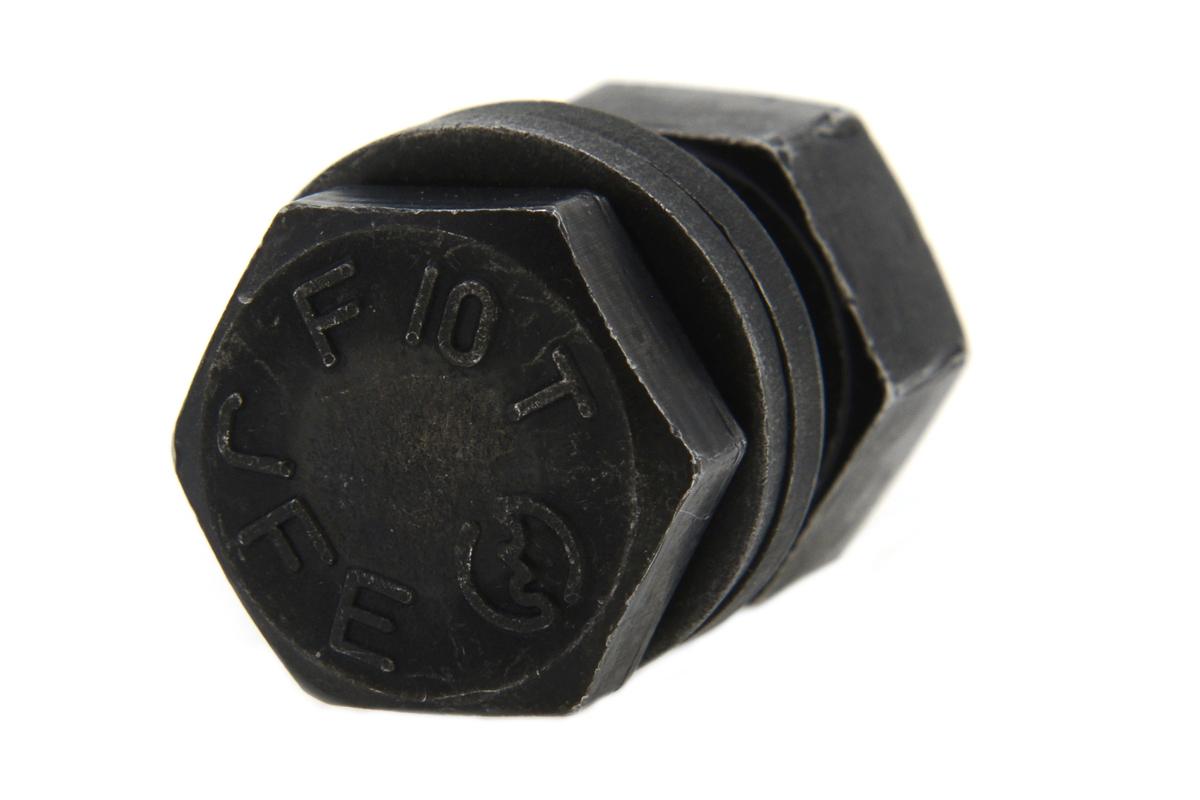 鉄(SCM435)/酸化鉄被膜 六角ハイテンションボルト [F10T] (ナット・ワッシャーセット)M22×145 【 お得セット : 10本入り 】