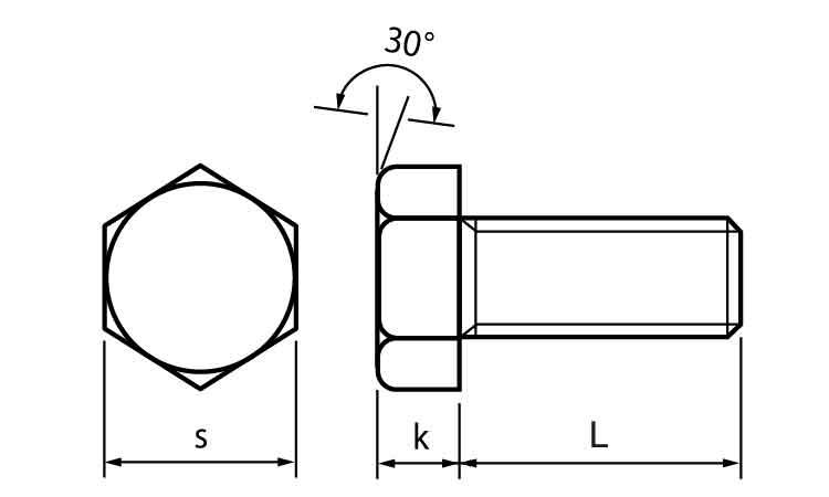 黄銅/ニッケル六角ボルト(全ねじ)M16×80【小箱:1箱/25本入り】