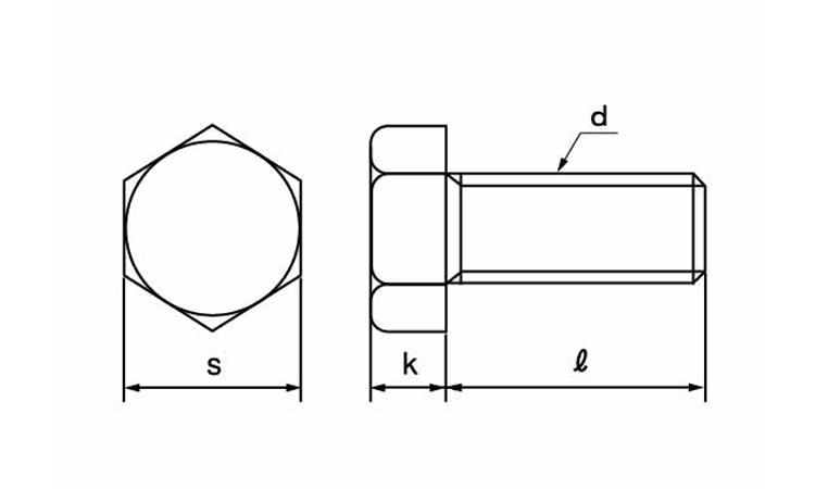 ステンレス/生地六角ボルト(ウィット・全ねじ)W7/16×50【小箱:1箱/50本入り】