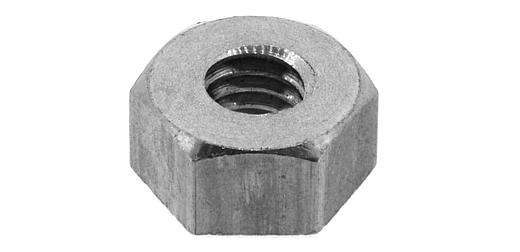黄銅/ニッケル 六角ナット [1種] 切削加工(旧JIS規格) M5 【 小箱 : 1箱/1500個入り 】