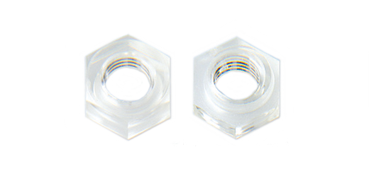 ポリカ ハードロックナット (透明)M12 【 小箱 : 1箱/50個入り 】