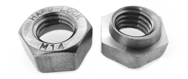 鉄/ドブ ハードロックナット [リム無] (ウィット)W5/8 【 小箱 : 1箱/100個入り 】
