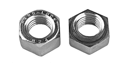 鉄(S45C・焼入れ)/三価ホワイト ハードロックナット (細目)M18 《ピッチ=1.5》 【 小箱 : 1箱/100個入り 】