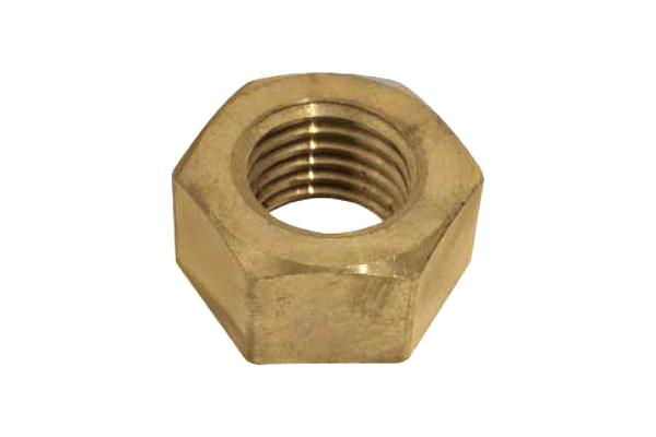 銅/生地 六角ナット [1種] 切削加工M10 【 お得セット : 10個入り 】