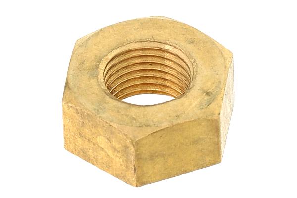 低カドミウム黄銅/生地 六角ナット [1種] (細目)M10 《ピッチ=1.0》 【 小箱 : 1箱/150個入り 】