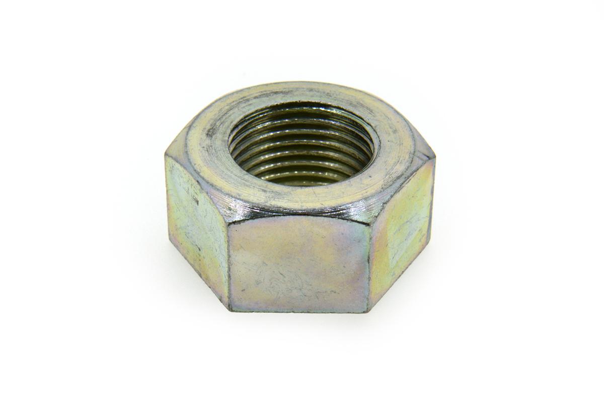 鉄/三価ホワイト 六角ナット [1種] 切削加工(左ねじ・細目) M12 《ピッチ=1.5》 【 小箱 : 1箱/200個入り 】