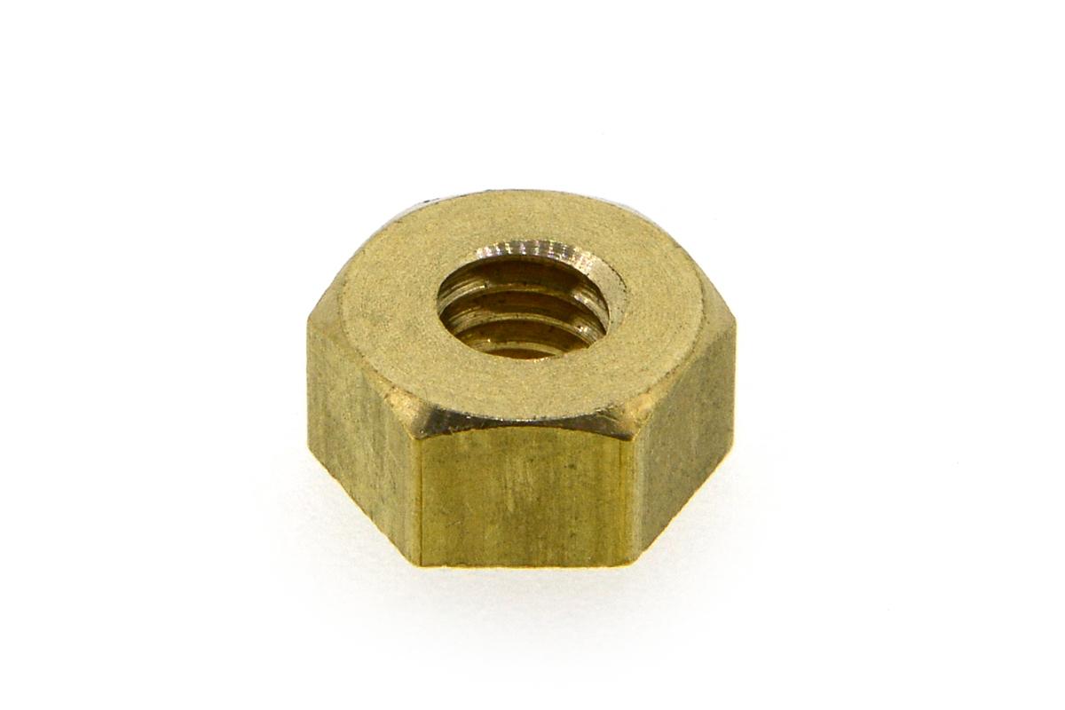 黄銅/生地 六角ナット [1種] 切削加工(旧JIS規格) M5 【 小箱 : 1箱/1500個入り 】