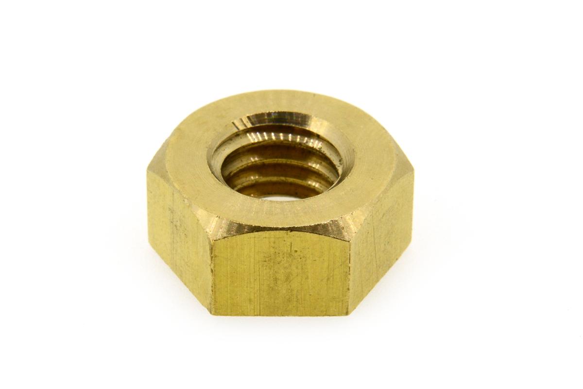 黄銅/生地 六角ナット [1種] 切削加工(ウィット) W1/2 【 小箱 : 1箱/100個入り 】