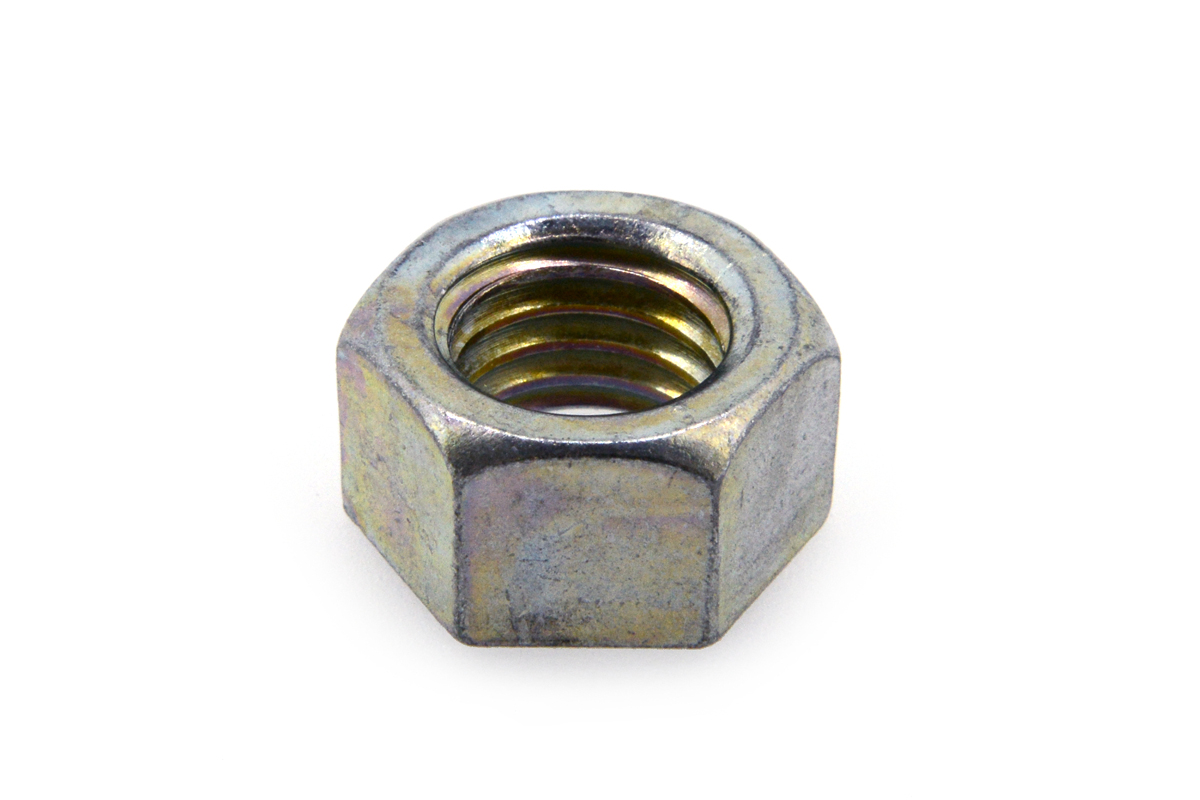 鉄(S45C)/三価ホワイト 小形 六角ナット [1種] (細目)M14 《ピッチ=1.5》 【 小箱 : 1箱/180個入り 】