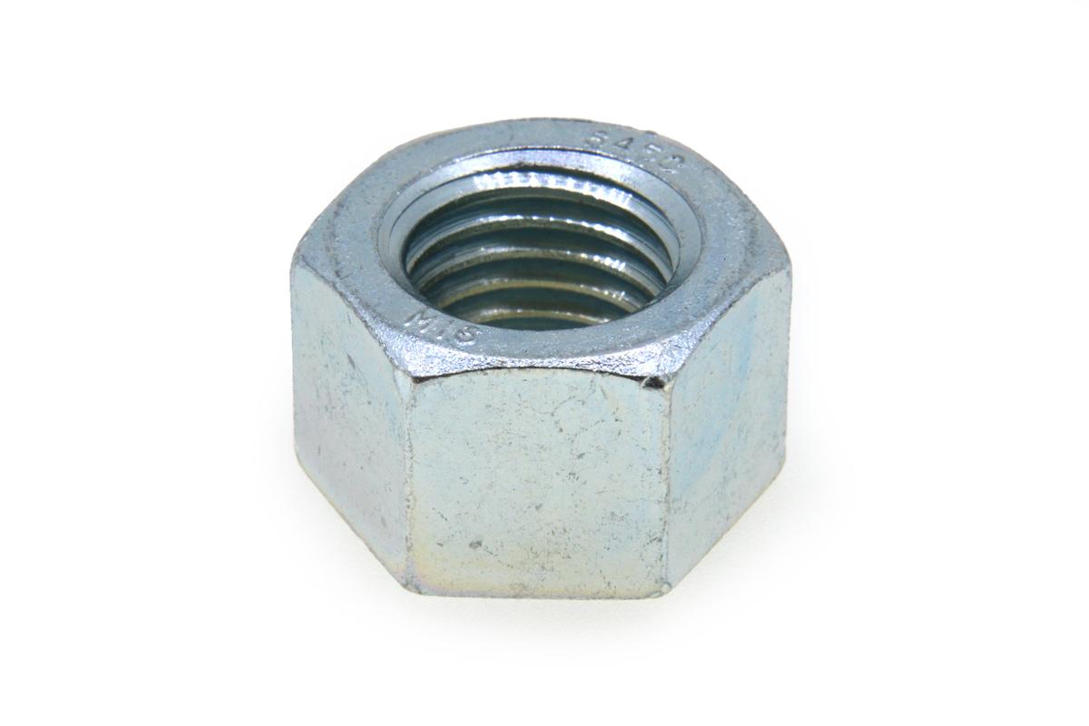 鉄(S45C)/三価ホワイト 10割 六角ナット [1種]M22 【 小箱 : 1箱/75個入り 】