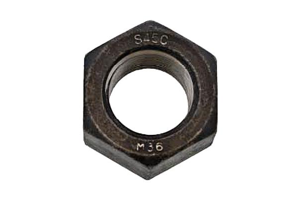 鉄(S45C)/生地 10割 六角ナット [1種] (細目)M42 《ピッチ=3.0》 【 お得セット : 10個入り 】