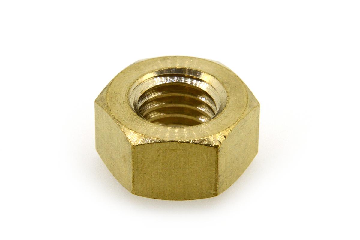 低カドミウム黄銅/生地 六角ナット [2種]M6 【 小箱 : 1箱/1000個入り 】