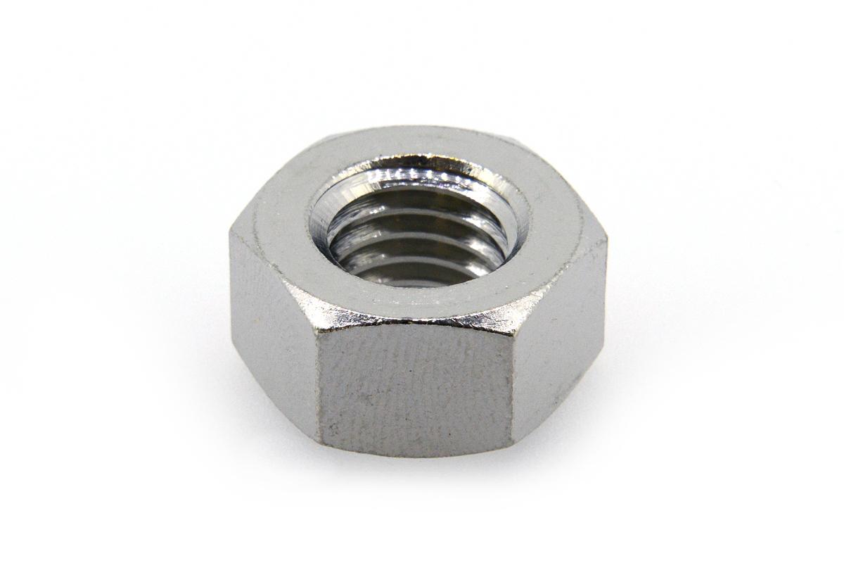 低カドミウム黄銅/ニッケル 六角ナット [2種]M6 【 小箱 : 1箱/1000個入り 】