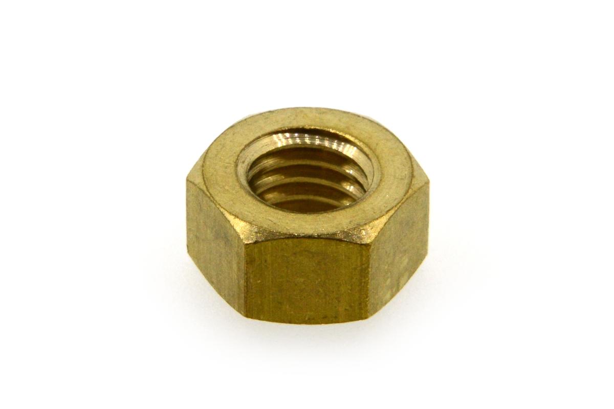 低カドミウム黄銅/生地 小形 六角ナット [2種]M8 【 小箱 : 1箱/500個入り 】
