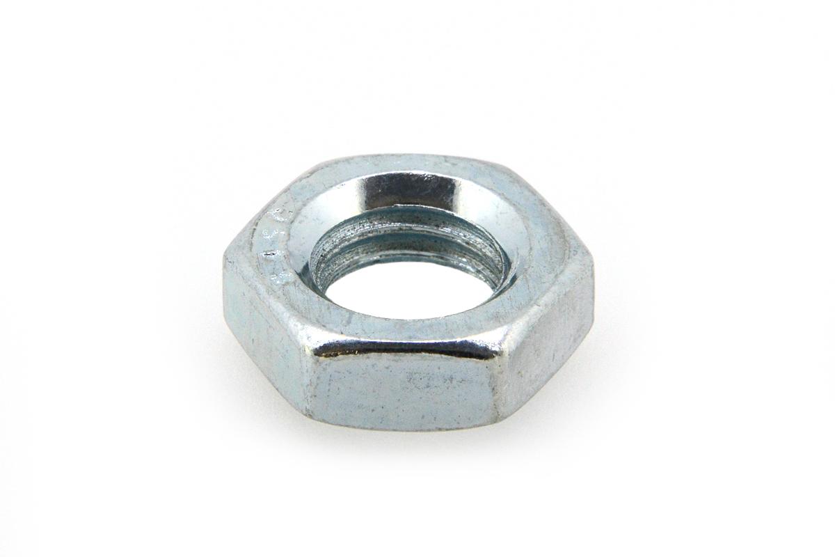 鉄(S45C・焼入れ)/三価ホワイト 六角ナット [3種] (細目)M24 《ピッチ=2.0》 【 小箱 : 1箱/110個入り 】