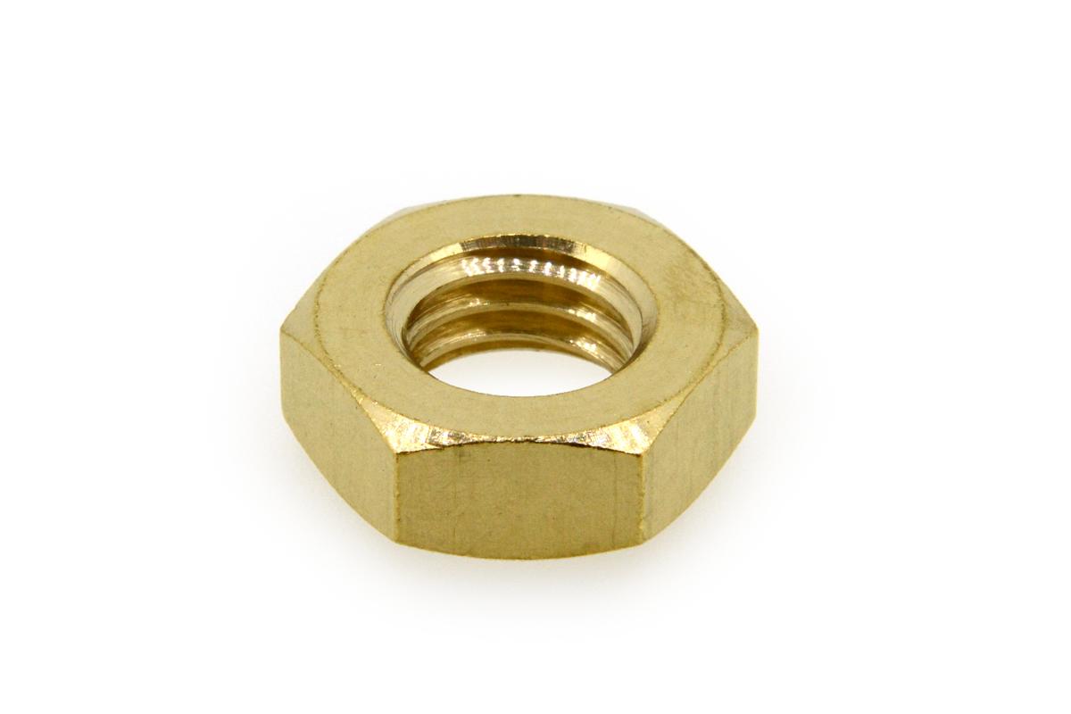 低カドミウム黄銅/生地 六角ナット [3種] (細目)M16 《ピッチ=1.5》 【 小箱 : 1箱/100個入り 】