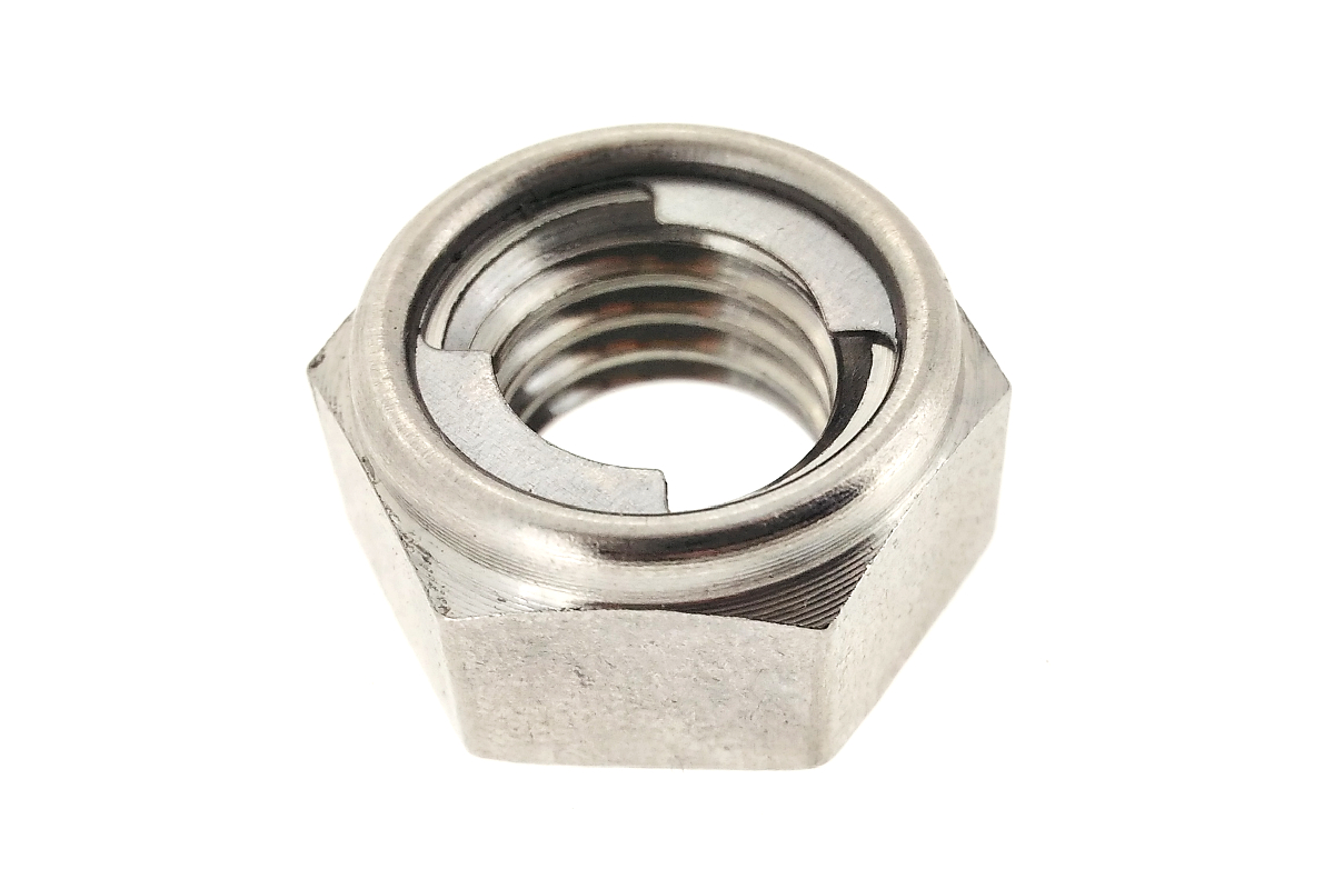 Self Locking Nut >> Neji No Tomimori Stainless Steel Cloth Self Locking Nut M6