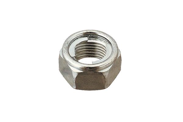 鉄/三価ホワイト 小形 セルフロッキングナット (細目)M10 《ピッチ=1.25》 【 小箱 : 1箱/400個入り 】