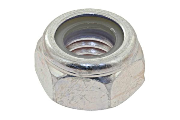 鉄/三価ホワイト ナイロンナット (DIN規格)M18 【 小箱 : 1箱/150個入り 】