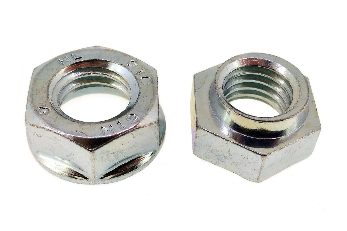 鉄/三価ホワイト ハードロックナット [リム付]M8 【 小箱 : 1箱/800個入り 】