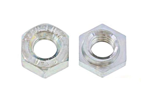 鉄/三価ホワイト ハードロックナット [リム無] (ウィット)W1/2 【 小箱 : 1箱/250個入り 】