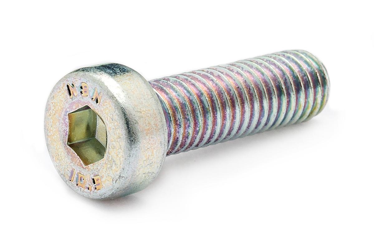 鉄(SCM435)/三価ホワイト [低頭] キャップボルト (全ねじ)M16×30 【 小箱 : 1箱/50本入り 】