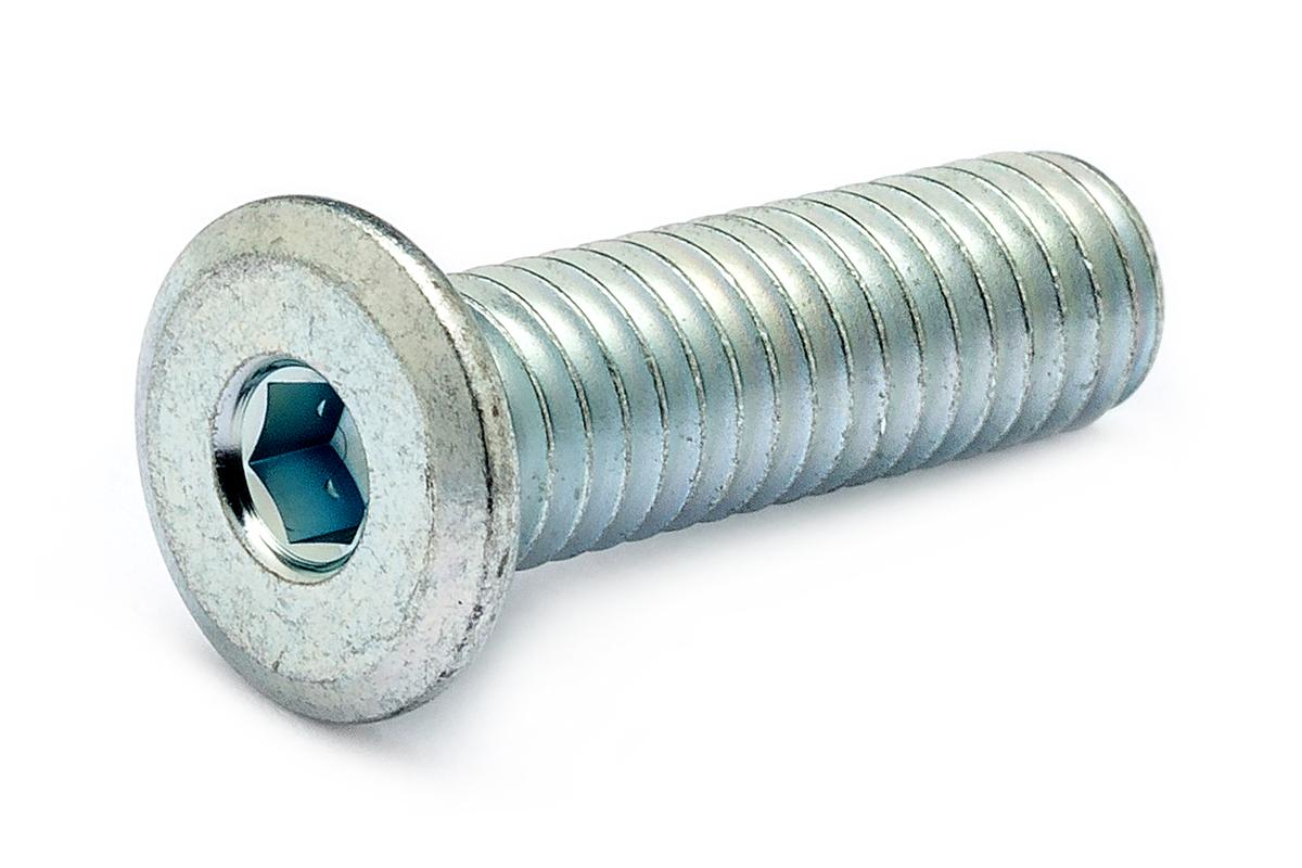 鉄(SCM435)/三価ホワイト [極低頭] 極薄ローヘッド キャップ (全ねじ)M2.5×4 【 小箱 : 1箱/500本入り 】