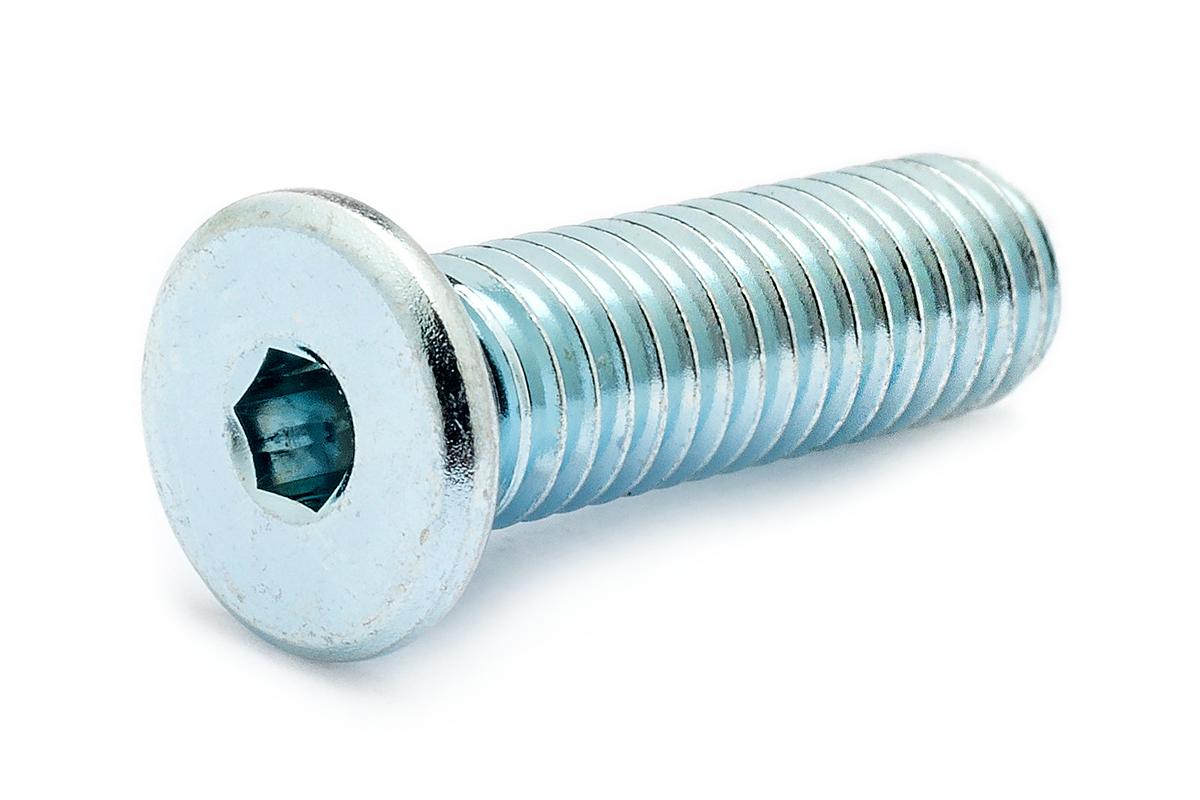 鉄(SCM435)/ユニクロ [極低頭] キャップボルト (全ねじ)M10×16 【 小箱 : 1箱/100本入り 】