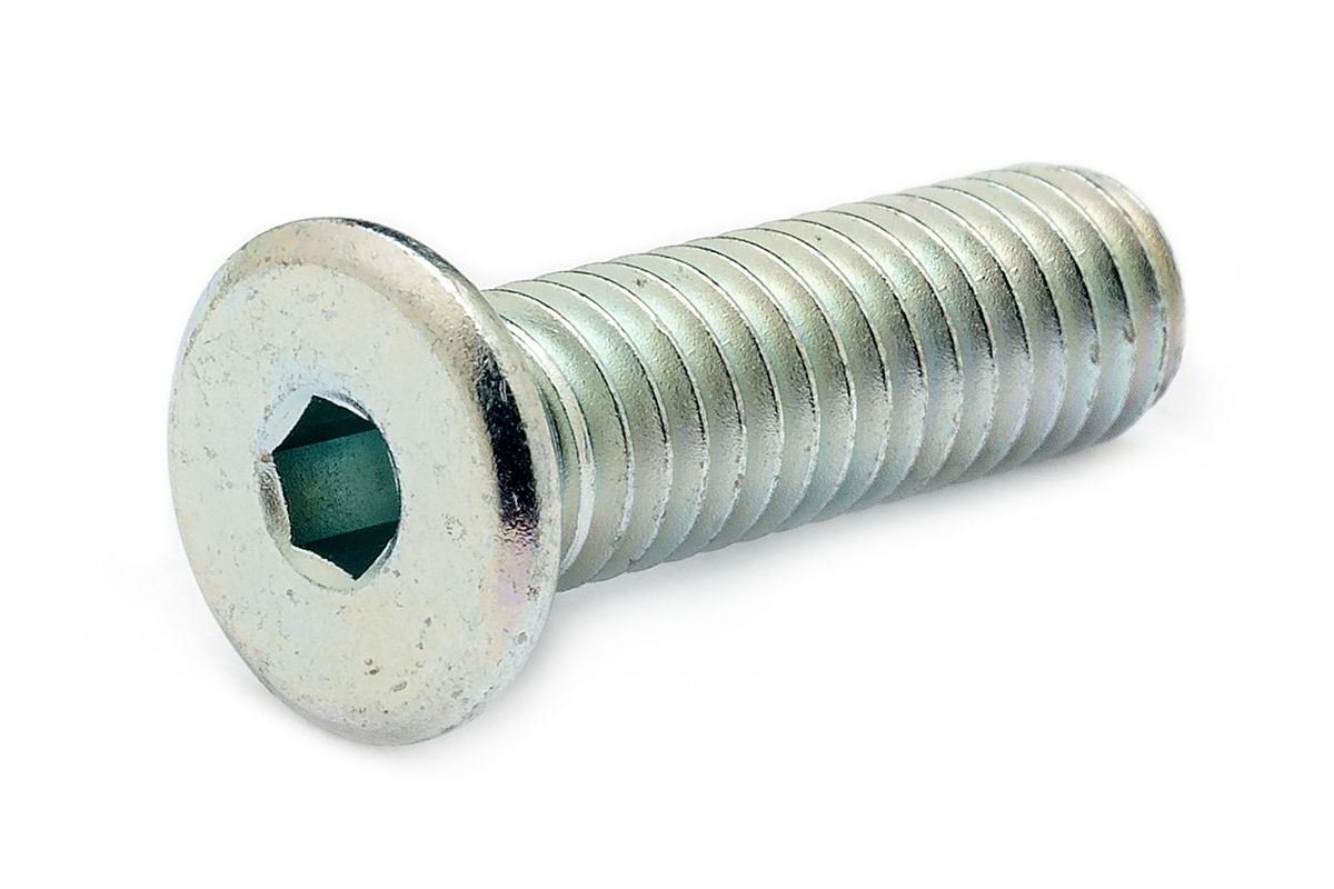 鉄(SCM435)/三価ホワイト [極低頭] キャップボルト (全ねじ)M8×8 【 小箱 : 1箱/100本入り 】