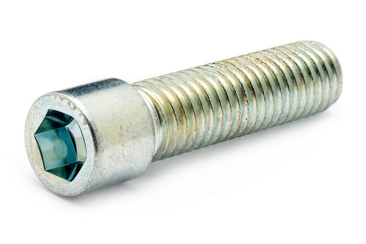 鉄(SCM435)/三価ホワイト [小頭] キャップボルト (全ねじ)M4×14 【 小箱 : 1箱/1000本入り 】