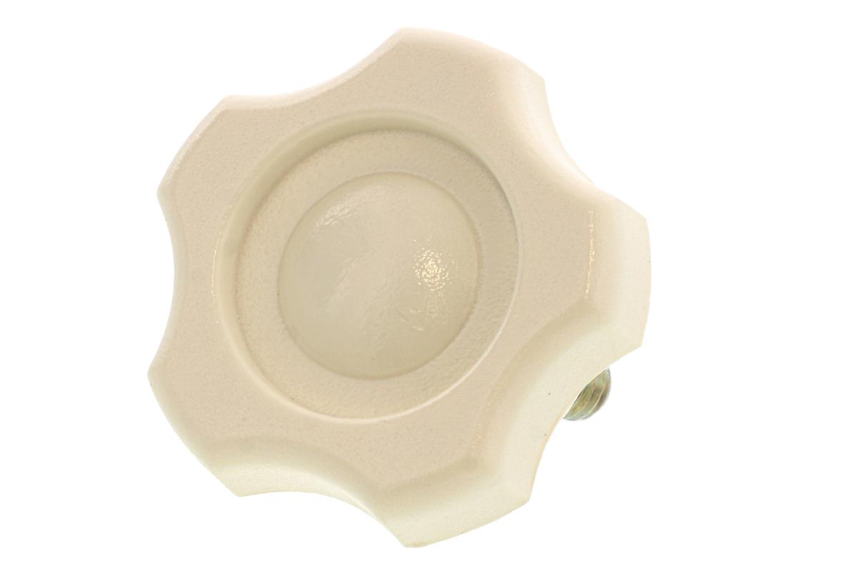 抗菌ノブボルト (アイボリー) [大:G-3][ねじ部:鉄/三価ホワイト] M10×35 【 小箱 : 1箱/60本入り 】