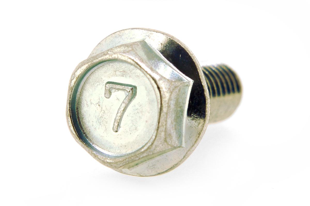 鉄/三価ホワイト 7マーク フランジボルト [2種] (全ねじ)M8×16 【 小箱 : 1箱/230本入り 】