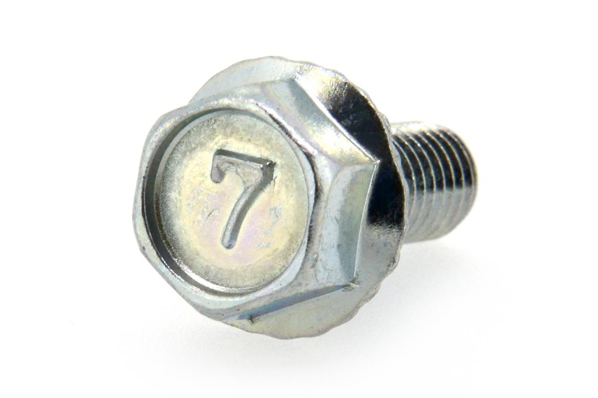 鉄/三価ホワイト 7マーク フランジボルト [2種・セレート付き](全ねじ) M8×16 【 小箱 : 1箱/230本入り 】